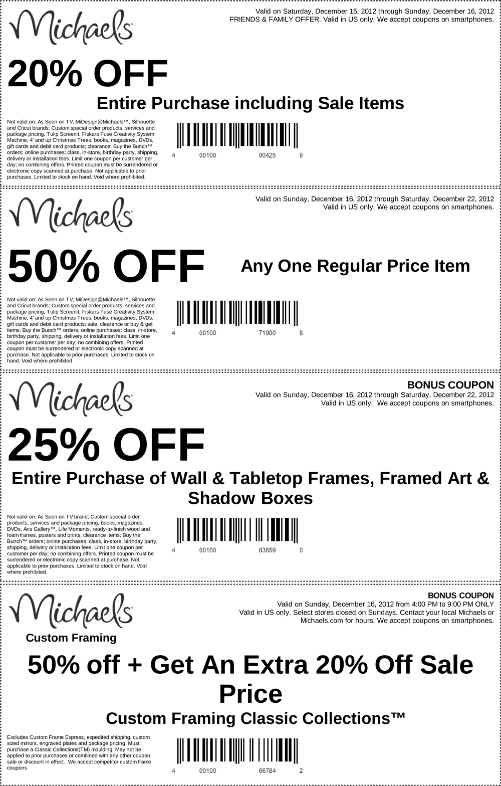 Funky Michaels Picture Frame Coupons Collection - Framed Art Ideas ...
