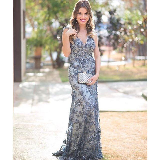 Fotos de vestidos com renda para festa