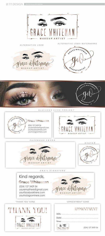 Logo Eyelash branding kit, Lashes logo package, Lash
