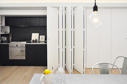 Keuken Met Schuifdeuren.Moderne Keuken Met Schuifdeur Keuekn Verstoppen Achter Schuifdeur