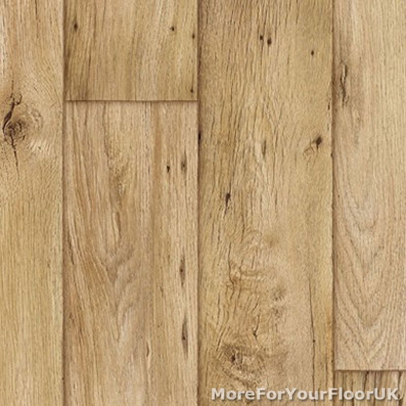 38mm Thick Vinyl Flooring Realistic Warm Wood Plank Effect Lino