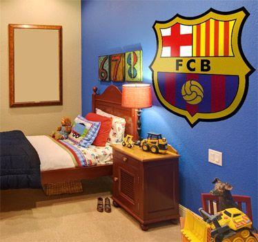 habitaciones para chicos con motivos del barcelona