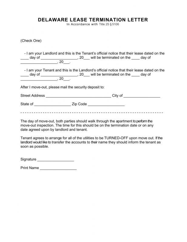 Commercial Lease Termination Letter Template Pinterest