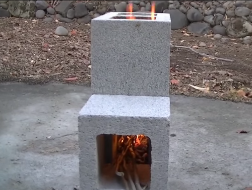 Wonderful DIY Cinder Block Rocket Stove For Under $8