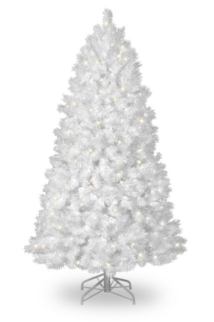 White Christmas Tree navidad Pinterest Christmas tree