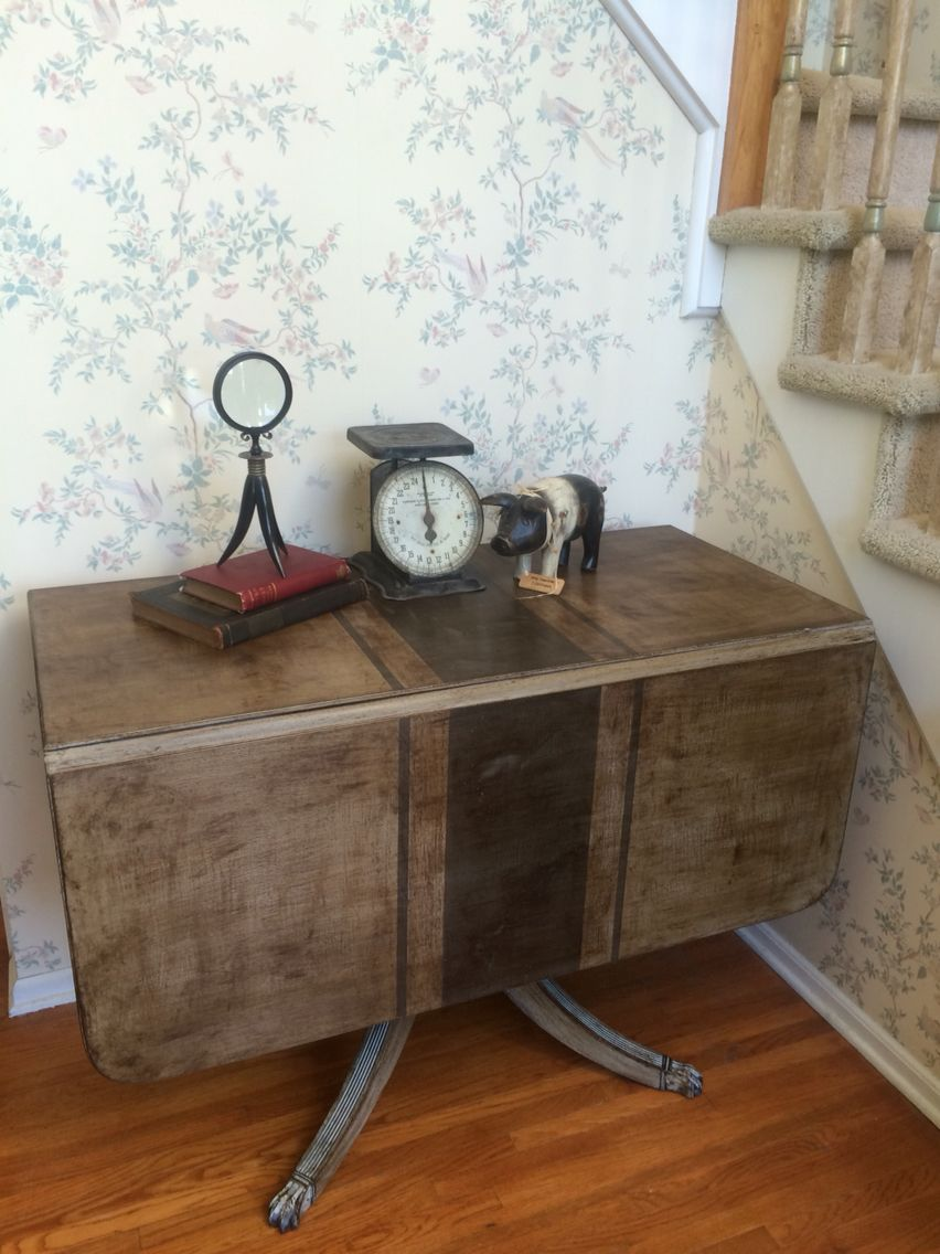 Drop Leaf Dining Table Painted In Annie Sloan Old Voilet