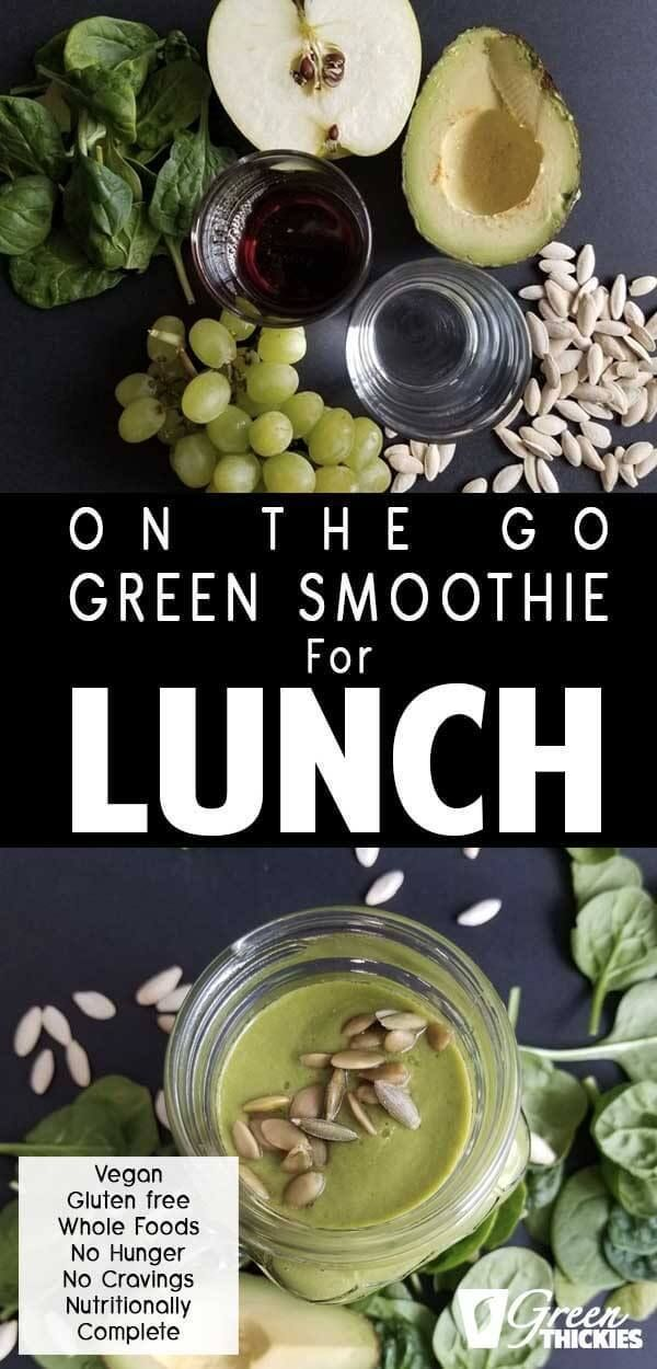 This is the perfect green smoothie recipe for lunch if you're always on the go... - Health & fitness...
