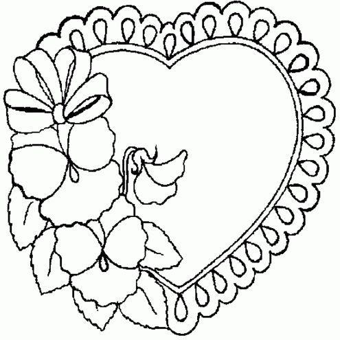 Fabulosos Corazones De Amistad Para Colorear Con Frases De Amor Imagenes De Amoral Paginas Para Colorear De Flores Paginas Para Colorear Patrones De Bordado