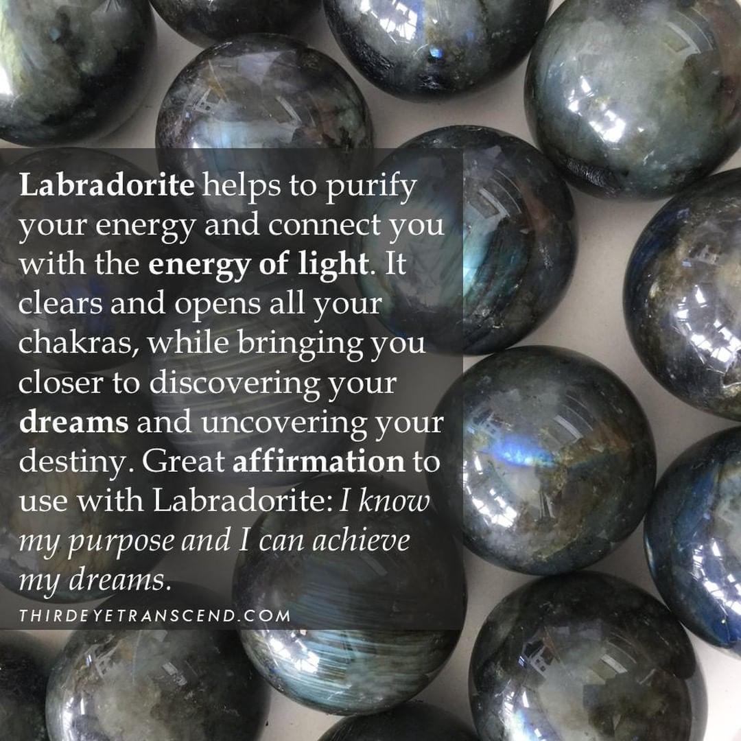 Thirdeyetranscend On Instagram Labradorite Helps To Purify Your Energy Affirmations Lawofattra In 2020 Labradorite Reiki Crystals Chakra Crystals
