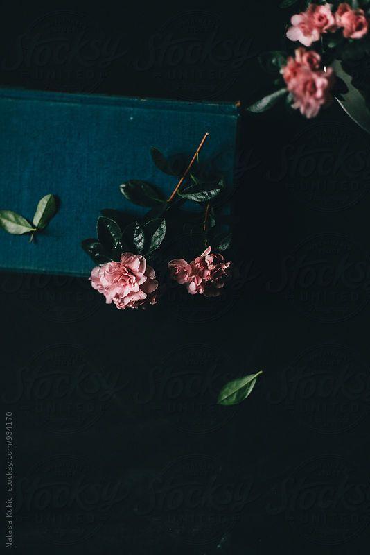 Vintage,grainy,scratchy flowery background,light leaks