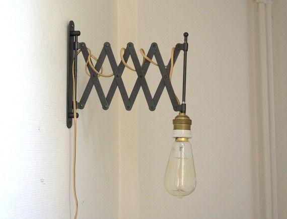Lampe accordéon industrielle applique murale vintage luminaires