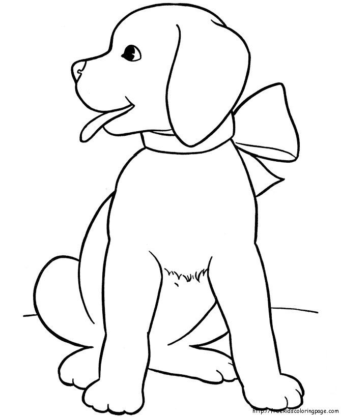 Christmas Coloring Pages For Kids To Print Coloring Pages Kids Animal Dogs Free Printable Colori Puppy Coloring Pages Easy Coloring Pages Dog Coloring Page
