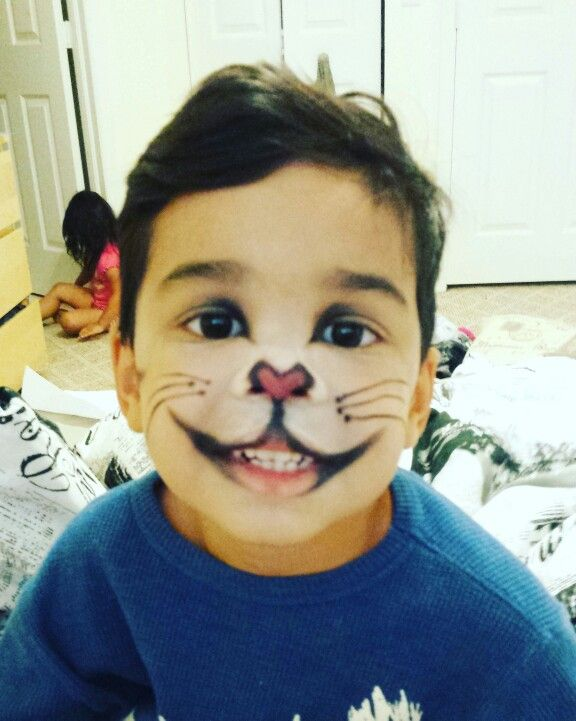 Cat in the hat makeup for boys | Halloween | Pinterest | Makeup ...