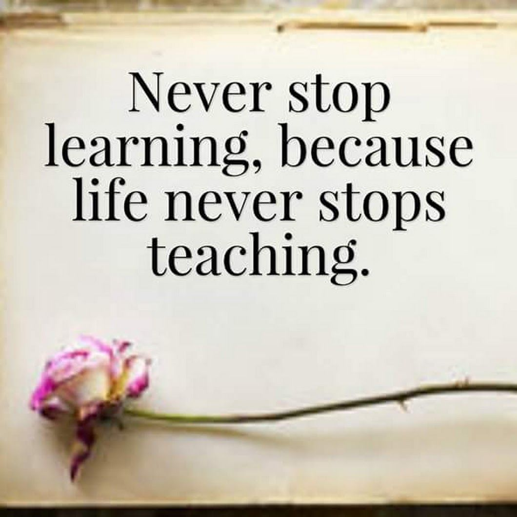 Never Stop Learning Quote Beauteous Never Stop Learning Because Life Never Stops Teaching Wisdom