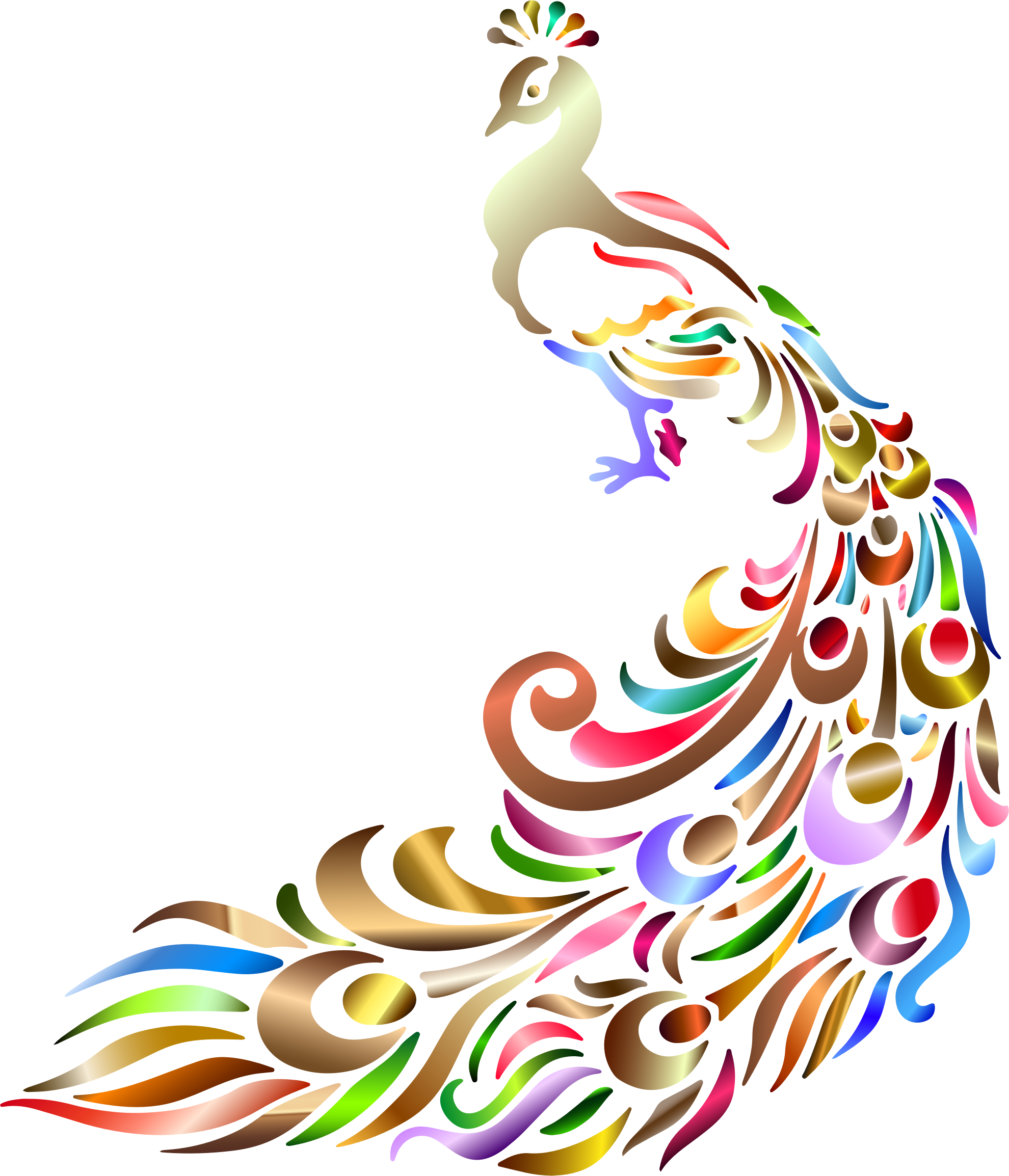 Clipart Chromatic Peacock No Background Peacock