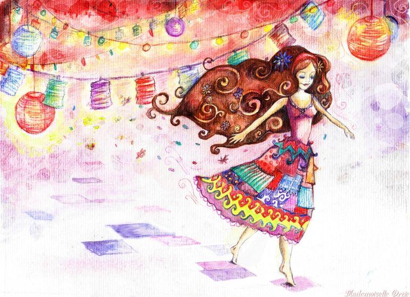 La Danse De Mercedes Les Illus D Ortie Mercedes Crayon De