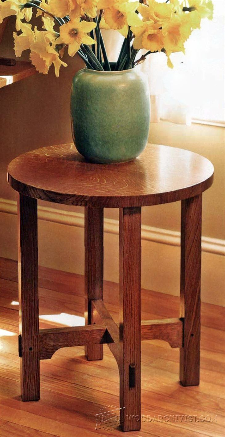 Art And Crafts Side Table Plans Furniture Plans And Projects