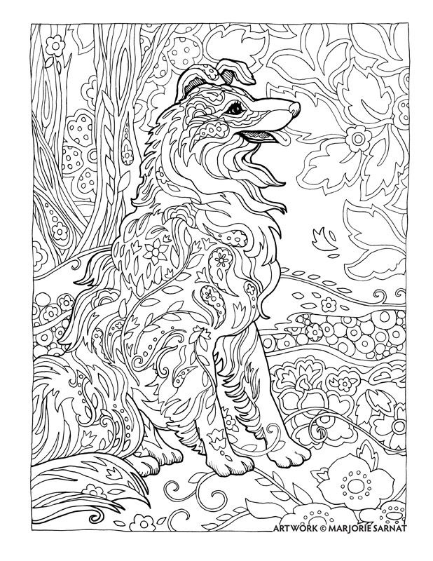 Creative Haven Dazzling Dogs Coloring Book by Marjorie Sarnat ...