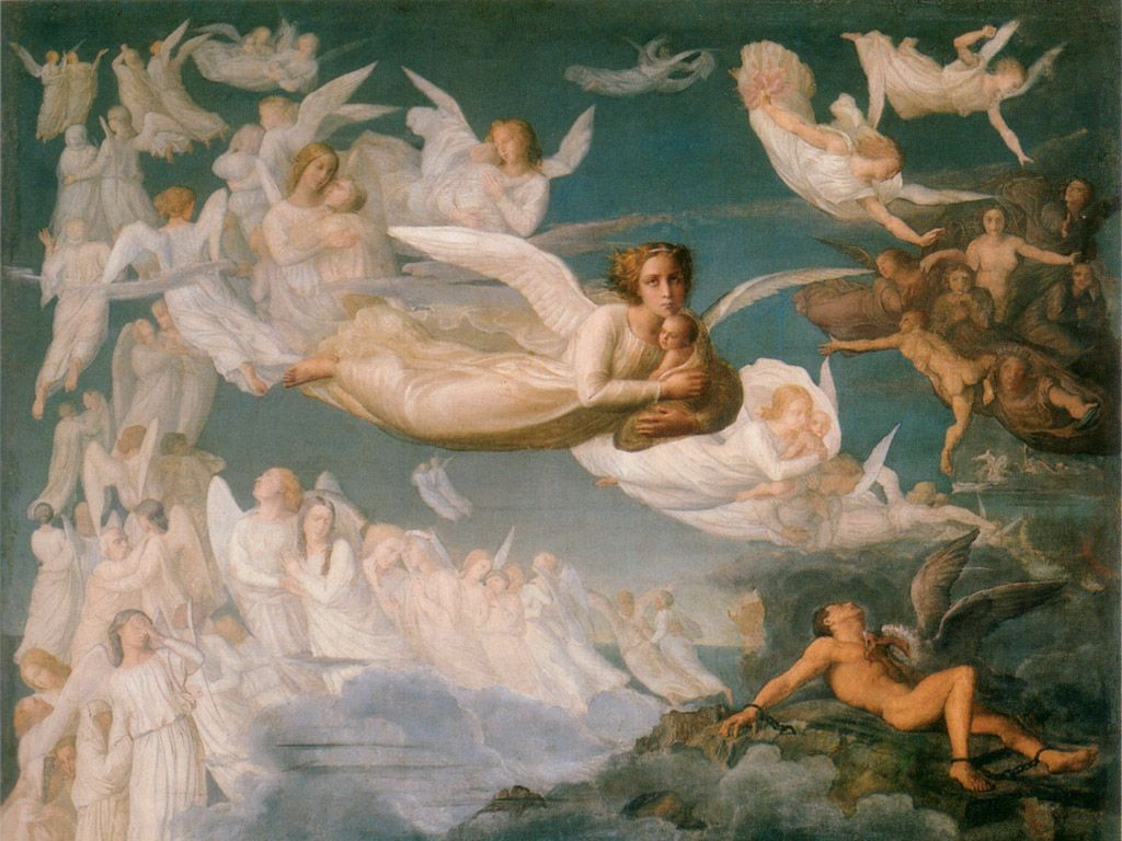 Famous Angel Paintings World Oil Wallpapers