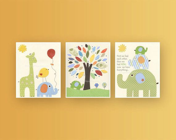 Nursery Decor, Baby Room art, Nursery Wall Art, Nursery art, Jungle ...