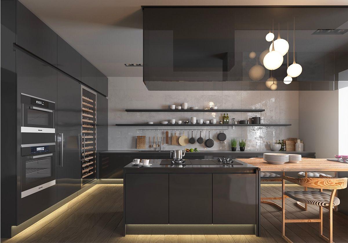 36 Stunning Black Kitchens That Tempt You To Go Dark For Your Next Remodel Interior Design Kitchen Black Kitchens Timeless Kitchen