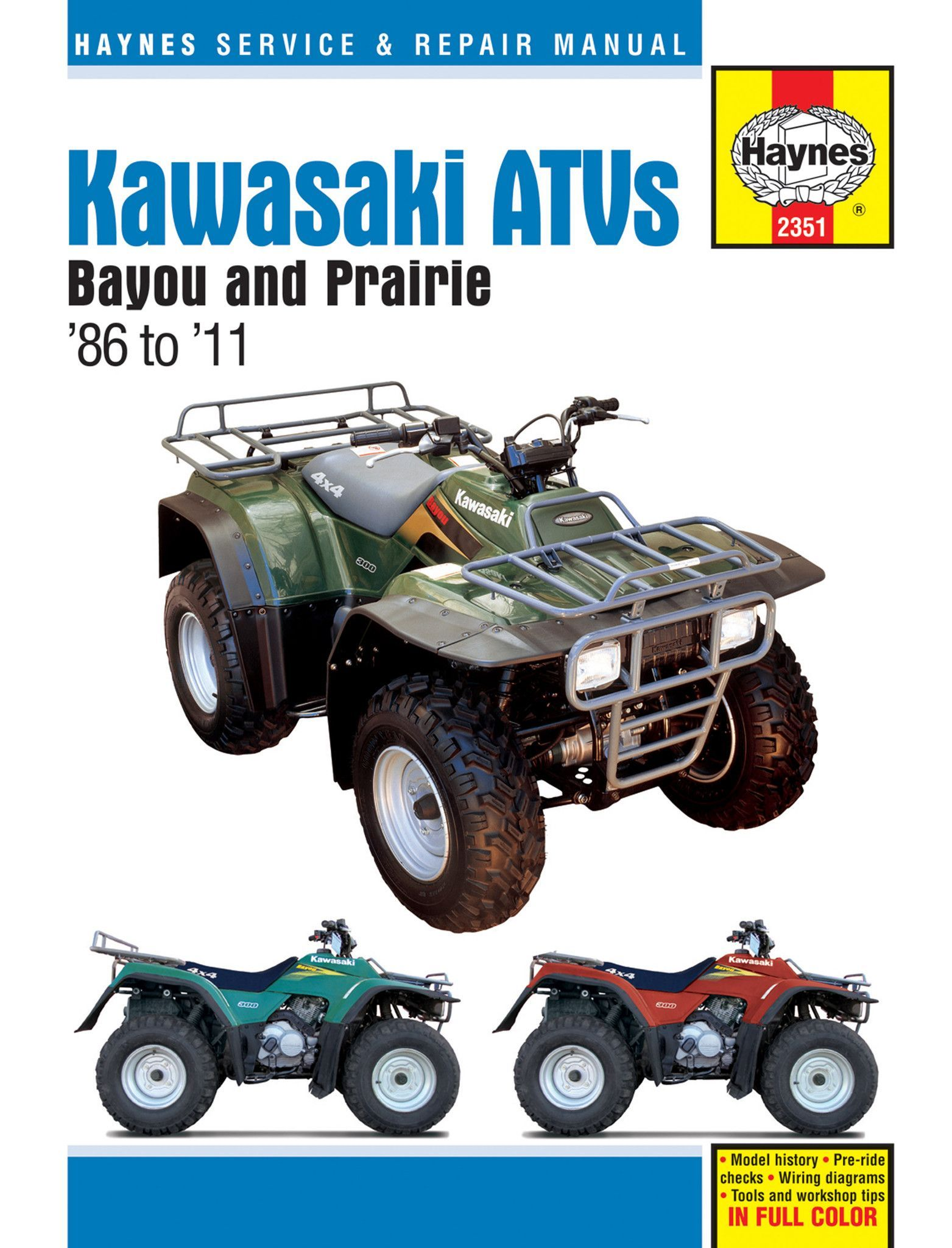 Haynes M2351 Repair Manual for 1986-11 Kawasaki Bayou / Prairie