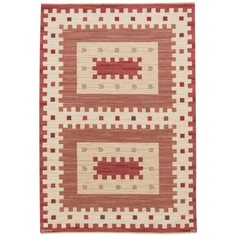 Vintage Rostaggen Swedish Flat Weave Rug By Marianne Richter 1stdibs Com Scandinavian Rug Rugs Rugs On Carpet
