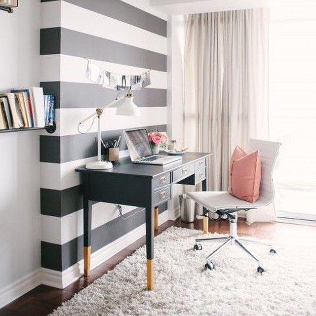"""I hope the stripe trend continues on into 2015! Image from @larkandlinen 's office. #inspiration #interioraddict #interiordesign #interiordecorate…"""
