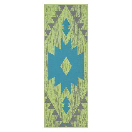 Gaiam Yoga Mat 3mm Aztec Yoga At Home Yoga Blanket Yoga