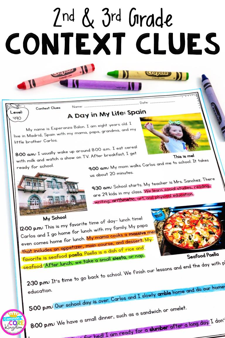 Context Clues in Nonfiction - 2nd Grade RI 2 4 & 3rd Grade