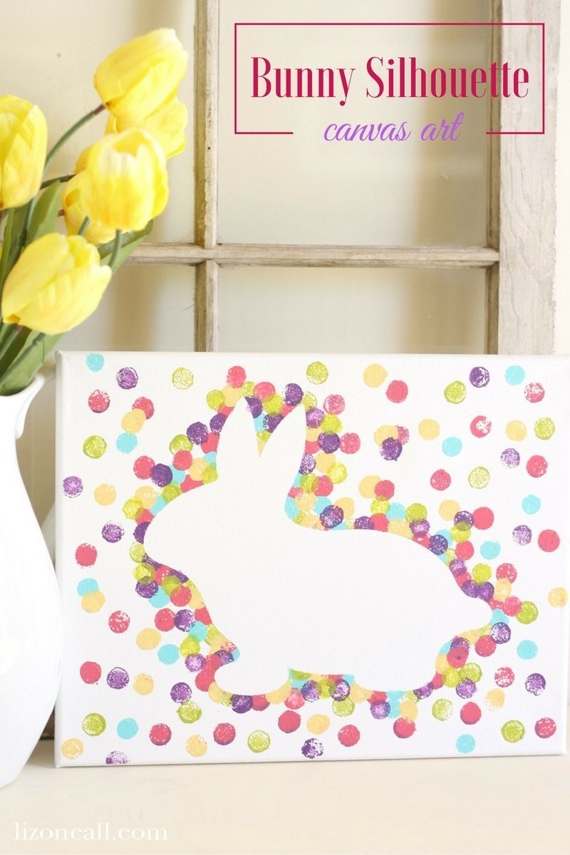 Photo of Easter Bunny Canvas Art  Liz on Call#easter#decoration