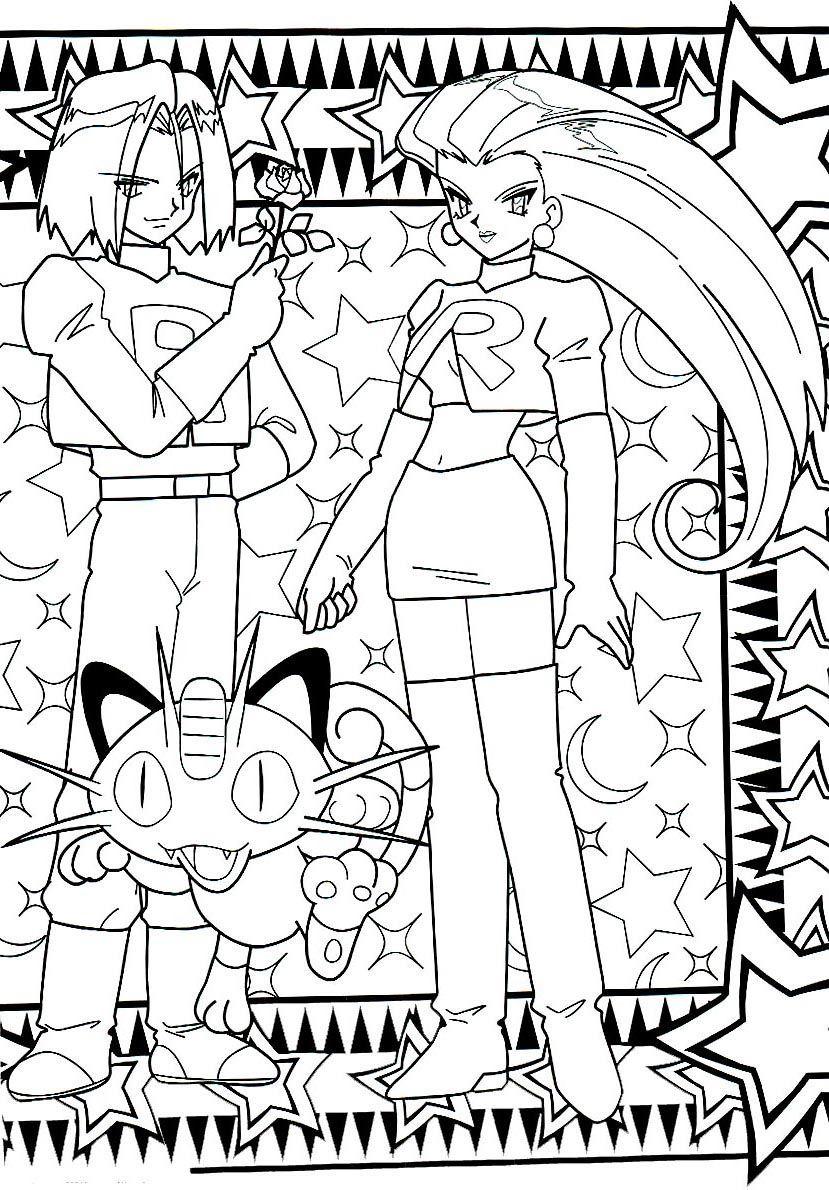 Teamrocket Pokemon Coloringpage Pokemon Coloring Pages Cool