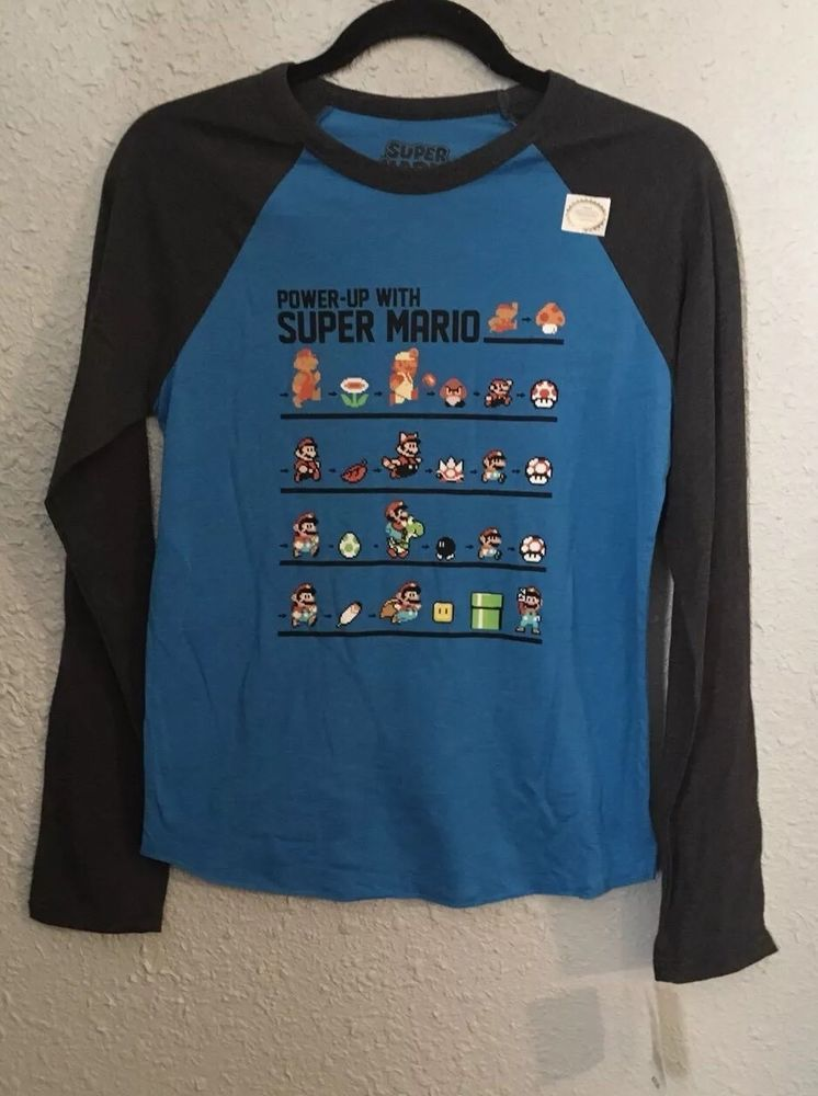 66b21d8a0e94be Nintendo Super Mario Boys Long Sleeve Tee NWT Size L (14-16) Back To School   fashion  clothing  shoes  accessories  kidsclothingshoesaccs ...
