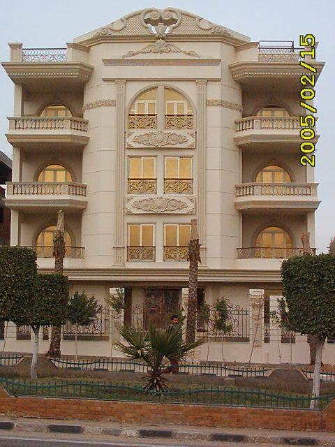 مجموعة من تصميمات الفيلات والعمارات السكنية واجهات ذات الطراز الكلاسيكي والذي يعطي الطابع التق Modern Architecture Building Facade House Classic House Exterior