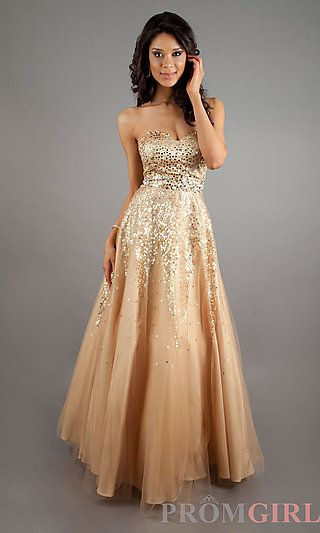 Strapless Sequin Ball Gown at PromGirl.com #prom #dress | Dresses ...