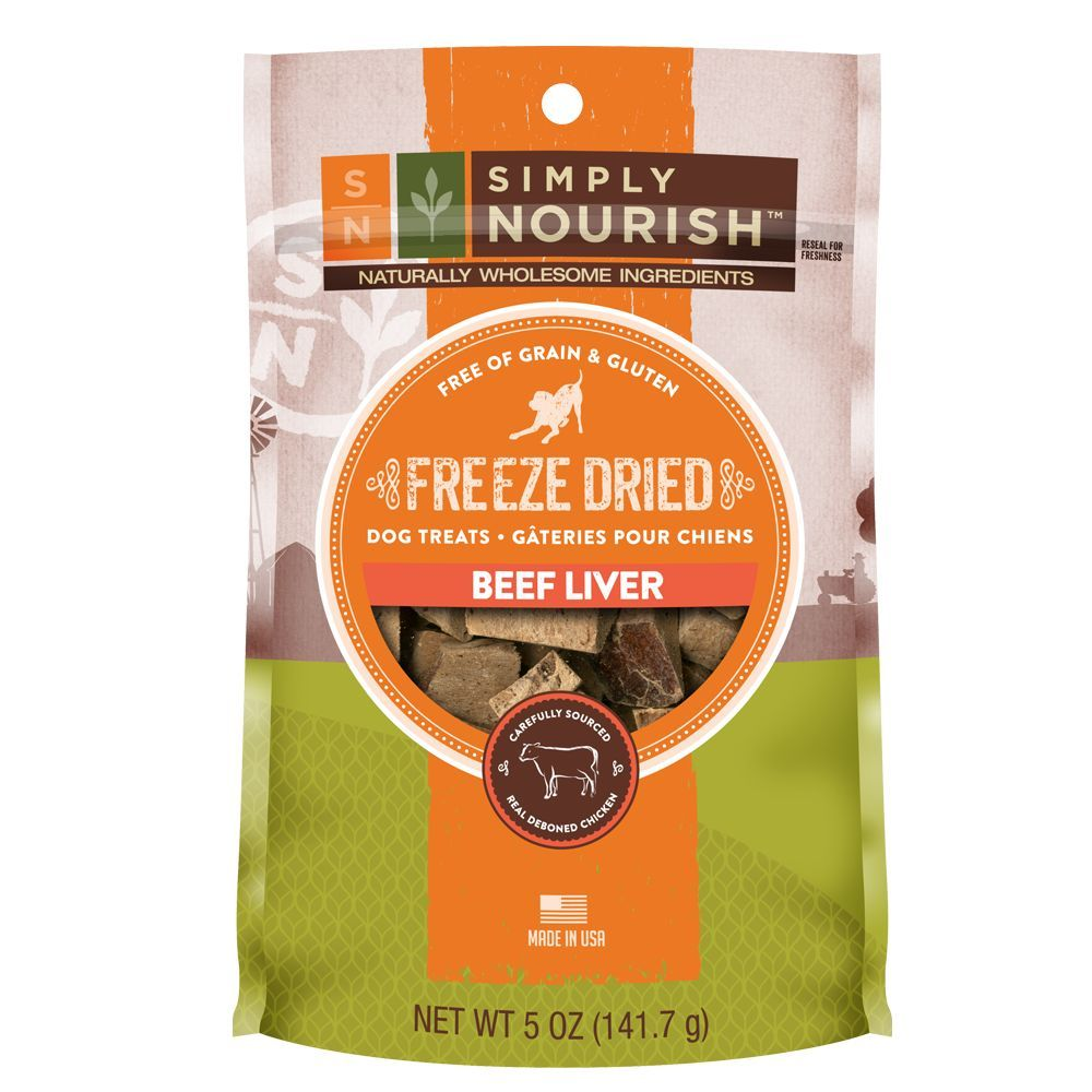 Simply Nourish Freeze Dried Dog Treat Natural Grain Free Size