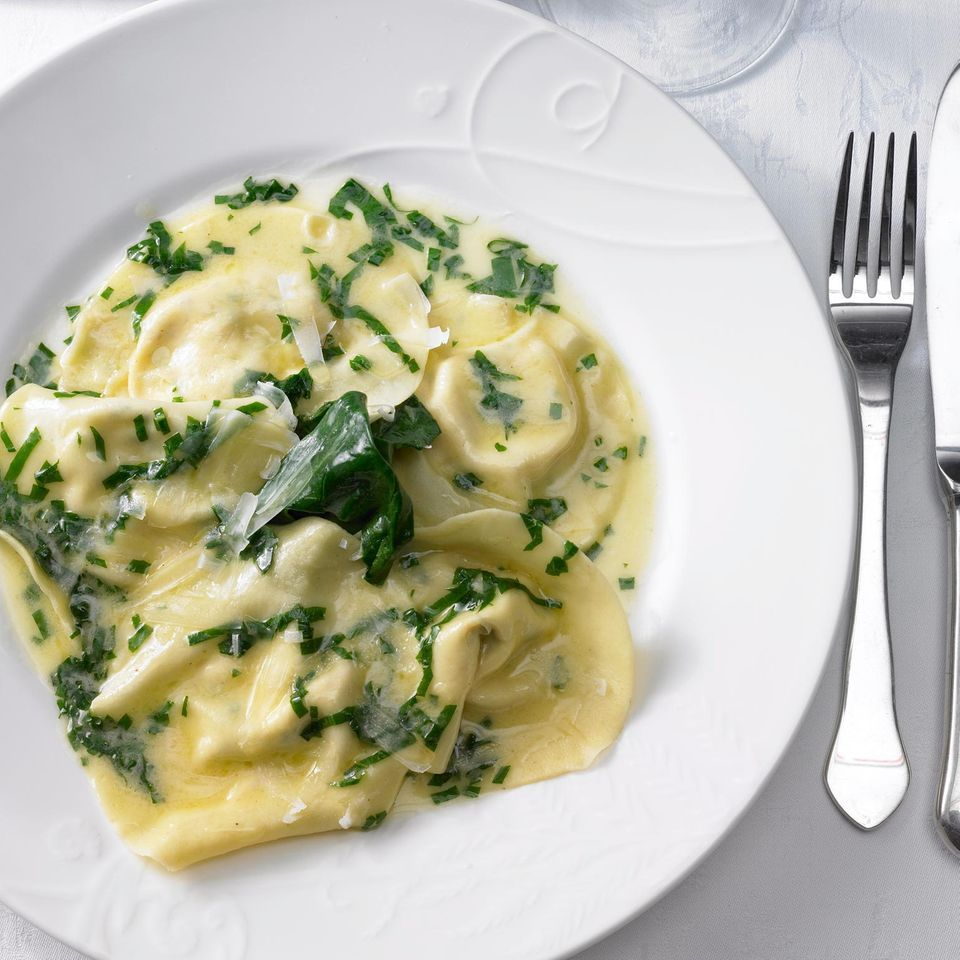 Photo of Ravioli with wild garlic and lemon sauce