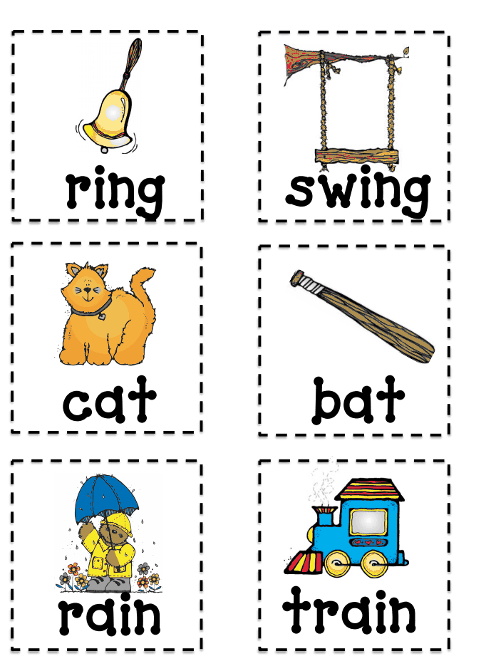 Rhyming Memory Game Pdf Rhyming Rhyming Activities