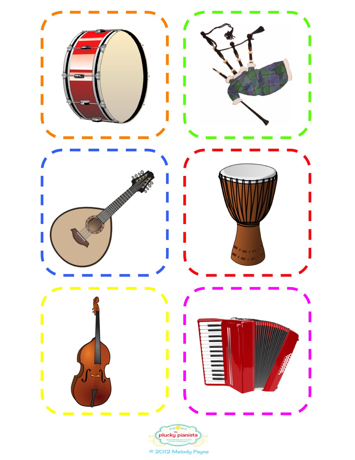 Lots More Musical Instrument Flash Cards
