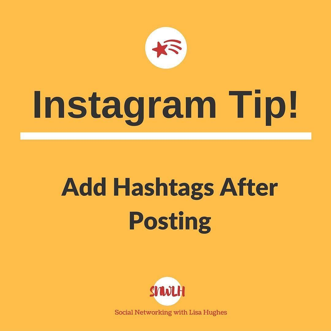 Instagram tip add hashtags after posting if you post a photo and instagram tip add hashtags after posting if you post a photo and realise youve ccuart Image collections
