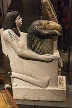 Egyptian Museum,the statue of Penmernabu,Turin,Piedmont,Italy,Europe