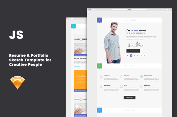 Js  Minimal Resume Template By BigpsfanS Shop On Creativemarket