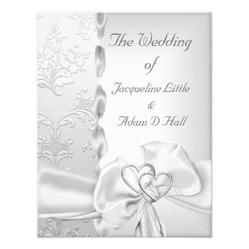 ReviewElegant Wedding Floral Silver White Bow Hearts Personalized InvitesYes I can say you are on right site we just collected best shopping store that have