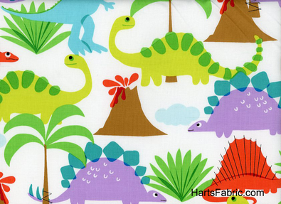 Land of the Lost Dinosaurs  $10.99 /yard  sheets, reusable napkins