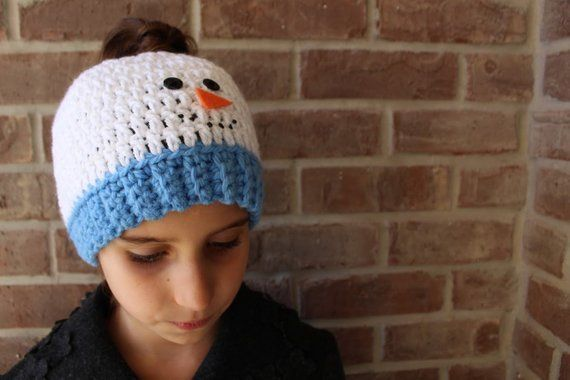 Handmade Snowman Bun Hat Ponytail Beanie, Handmade Crochet Messy Bun Stripe, Ladies Pony tail Hat Womens Kids Little Girls' Teen Striped Hat #kidsmessyhats Handmade Snowman Bun Hat Ponytail Beanie, Handmade Crochet Messy Bun Stripe, Ladies Pony tail Hat Womens Kids Little Girls' Teen Striped Hat #kidsmessyhats