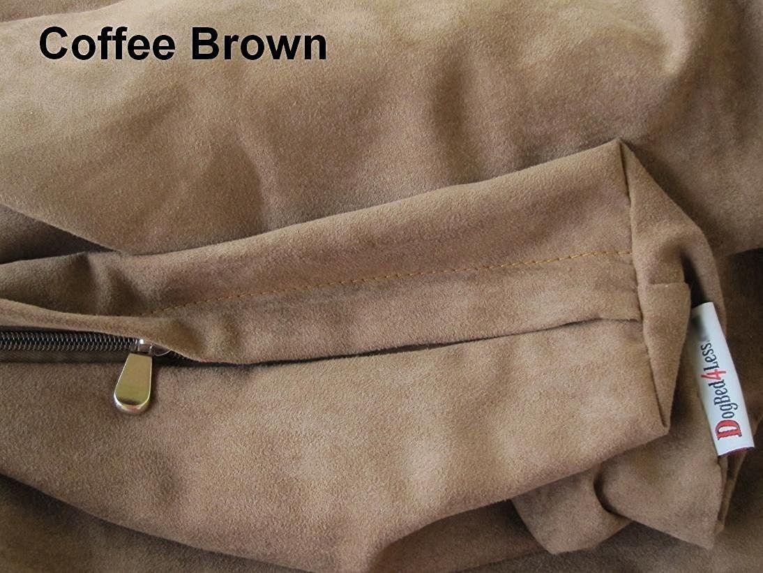 Dogbed4less DIY Pet Bed Pillow Brown MicroSuede Duvet