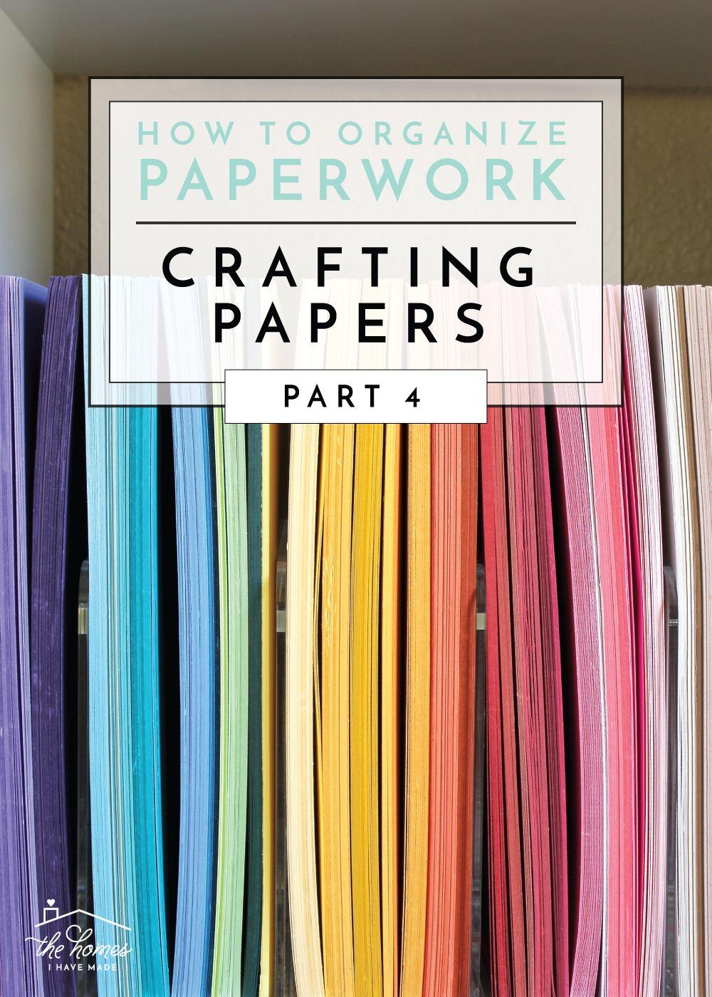 How To Organize Paperwork Organizing Paperwork Scrapbook Paper