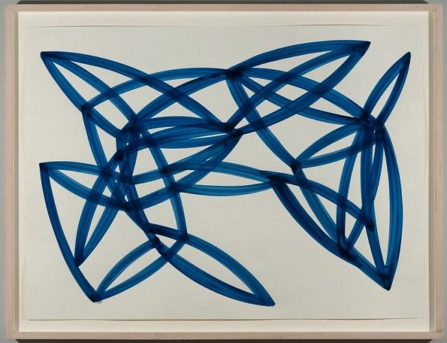 Agnes Barley, Untitled Collage (Monochromes Blue) 2 2013, acrylic on paper