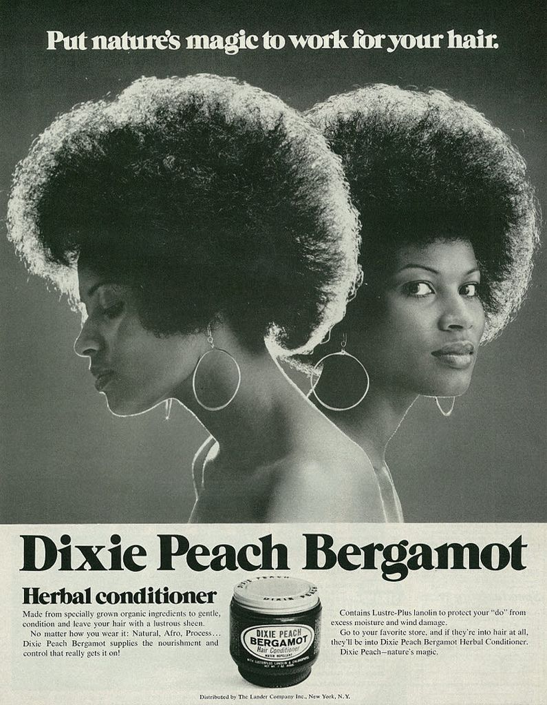 1971 Hair Care Ad, Dixie Peach Bergamot Herbal Conditioner