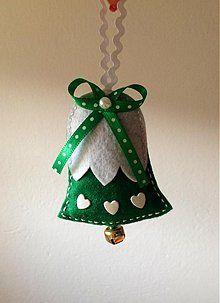 Dekorácie - Vianočný zvonček (Green) - 3234594